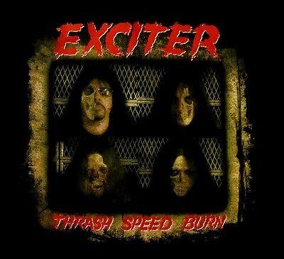 EXCITER cd cvr THRASH SPEED BURN Official SHIRT LRG new