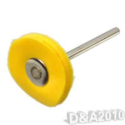 5 Pcs 3 x 25mm T Tape Yellow Dacron Cloth Wheels Buffing Polishing Rotary Tools