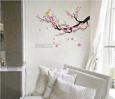 Removable Wall Sticker plum blossom bird tree home  Decal decor mural