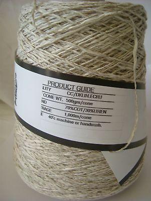 Yeoman Yarn 400g Cone Cotton / Linen Hand DK or Knitting Machine - Y218.08