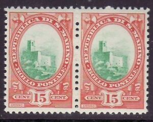 San Marino # 117 MNH Pair CV is for HINGED