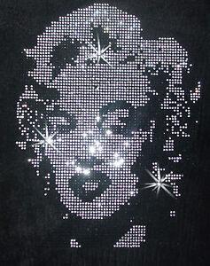 Marilyn-Monroe-A-iron-on-hotfix-RHINESTONE-CRYSTAL-BLING-TSHIRT-TRANSFER-PATCH