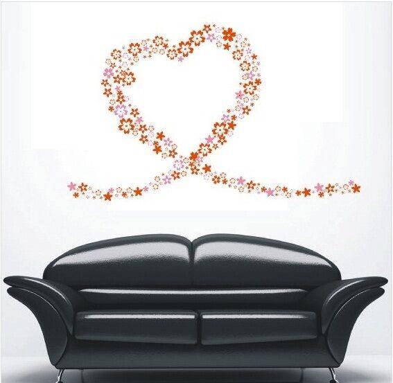80 FLOWER STORM 22Colors Wall Art Sticker UNI Design Wall Decals mural decor..