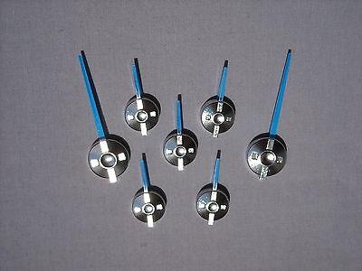 99-02 BLUE/CHROME GM SPEC SILVERADO CLUSTER ESCALADE STYLE POINTER NEEDLES SET