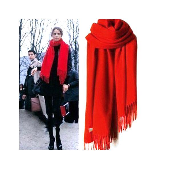 New Womens Pashmina Warm Wool Shawl Winter Neck Scarf 12Colors Free Size M162