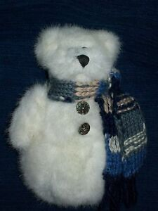 adorable 7 boyds bears winter snowman bear w scarf 1990. Black Bedroom Furniture Sets. Home Design Ideas
