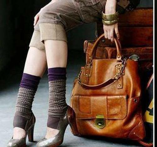 New Women's Lady's Korean style Hobo handbag shoulder bag PU leather Brown