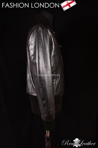 "/""JAGGER/"" MEN/'S nero biker moto stile MONTATO Lambskin LEATHER JACKET"