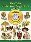 Full Color Old Time Vignettes by Dover (CD-ROM, 2003)