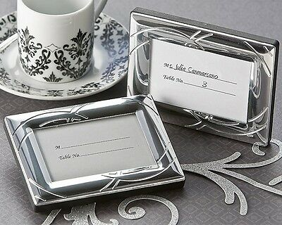 Double Ring Romance Mini Photo Frame Place Card Holders Wedding Favors