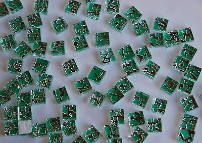 100 Mosaiksteine metallisch grün Glassteine Mosaik 1cm