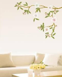 White-Flowers-Wall-Stickers-Mural-Art-Decals-Stylish-Home