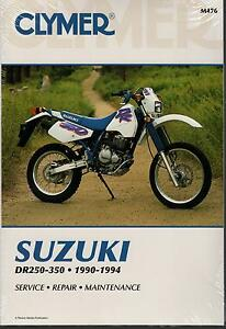 1990-1994-CLYMER-SUZUKI-MOTORCYCLE-DR250-350-SERVICE-MANUAL-NEW-M476