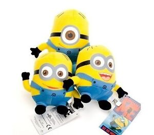 3pcs-Despicable-me-minion-plush-toys-6-034-Stewart-Dave-JORGE-New-with-tags