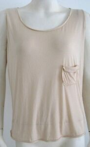MIU-MIU-TANK-TOP-BEIGE-PULL-OVER-SCOOPED-NECK-SIZE-SMALL