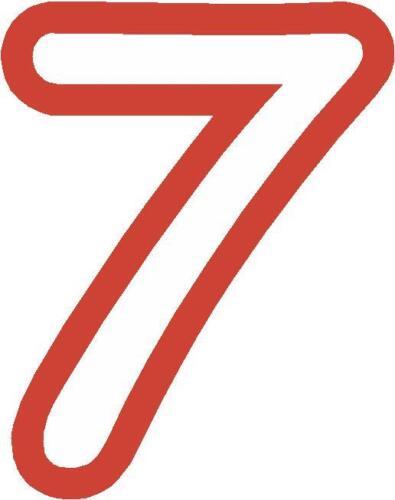 x 1 5.1cm Cifre ALTRO nel negozio Numeri Di Gara adesivi in vinile Stile 1