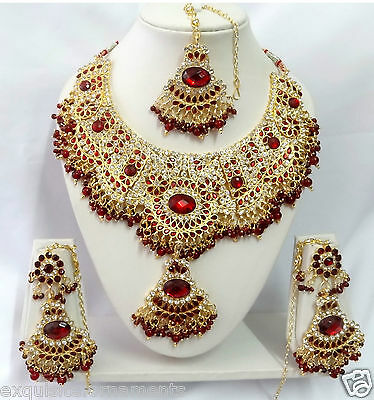 T9004 Indian Bollywood Fashion Jewelry Kundan Jewellery Necklace Set