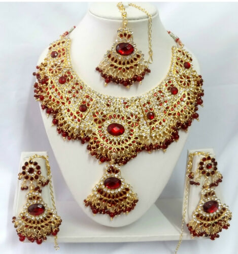 T9004 Indian Bollywood Fashion Jewelry Kundan Jewellery Necklace Set ERT EHS