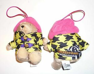 PADDINGTON-BEAR-World-Travel-Plush-Collect-AMSTERDAM-Singapore-2011-MINT