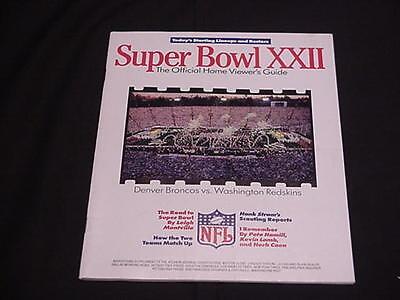 1988 Super Bowl XXII Viewer's Guide - Football
