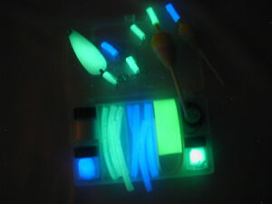 Glow in the dark paint kit for your lures hooks bobbers ebay for Glow in the dark fishing lures