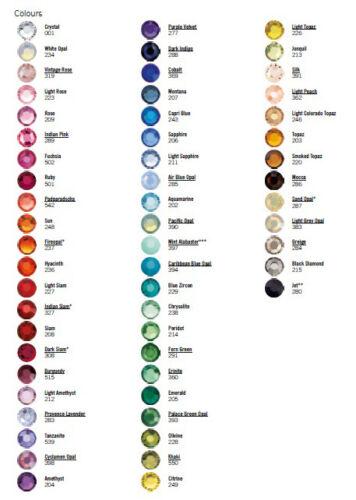 10 x 144 Swarovski 2058 5ss crystal flatback rhinestones ss5 colors nail art