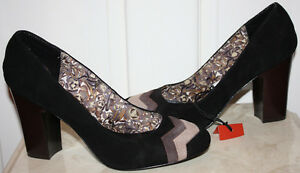 NWOB-Womens-Missoni-For-Target-Zig-Zag-Suede-Pumps-Heels-Shoes-Size-10