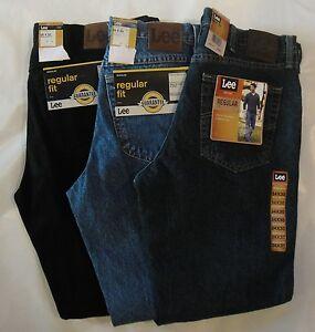 LEE-Mens-Regular-Fit-Straight-Leg-Jeans-29-30-31-32-33-34-35-36-38-40-42-NWT