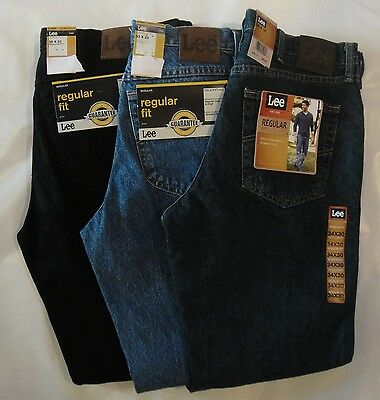LEE Mens Regular Fit Straight Leg Jeans 29 30 31 32 33 34 35 36 38 40 42 NWT