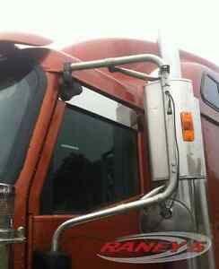 International-9200-9400-9900-5-Chop-Top-Stainless-Upper-Window-Trim-Semi-Truck
