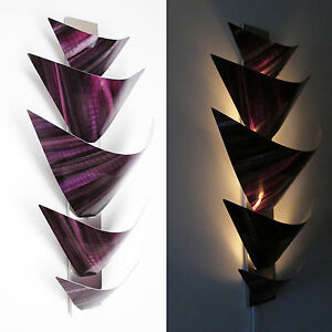 Image is loading Metal-Wall-Art-Torchiere-Lamp-Sculpture-Home-Decor-