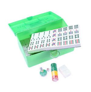 Green Background Extra Large Mahjong English Characters Mahjong Game Set
