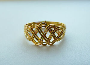 Scroll Knot Puzzle Ring
