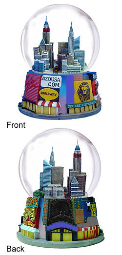 ollector's 42nd Street Times Square Snow Globe, Broadway, NYC Skyline (WG147)