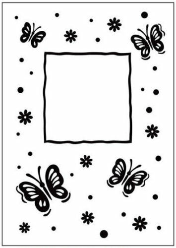 Crafts Too A6 Embossing Folder BUTTERFLY FRAME CTFD3040