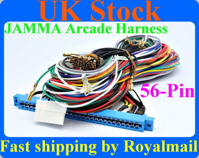 New JAMMA harness wire wiring loom for arcade game PCB video game board
