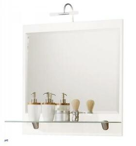 Badezimmer spiegel mit beleuchtung badspiegel mit ablage in weiss badm bel 5602 - Badspiegel ablage ...