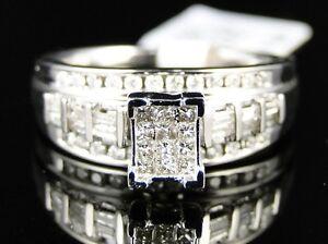1-2-CT-WOMENS-LADIES-WHITE-GOLD-FINISH-DIAMOND-WEDDING-ENGAGEMENT-BAND-RING