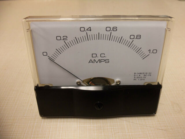 "Dc. Panel METER 0 - 1 Amp. 4"" X 3 1/2"" NEW"