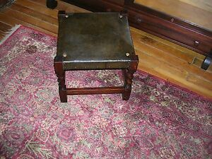 signed-antique-quartersawn-oak-arts-and-craft-mission-foot-stool-table
