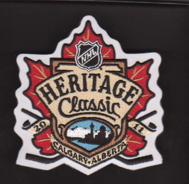 2011 NHL HERITAGE CLASSIC CALGARY FLAMES MONTREAL CANADIENS  JERSEY PATCH