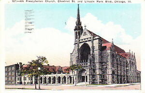PRESBYTERIAN-CHURCH-CHICAGO-ILLINOIS-1929-Dated-VINTAGE-POSTCARD