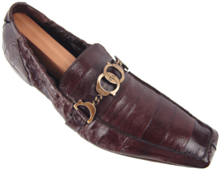 CESARE PACIOTTI EEL HANDCUFFED DRIVING LOAFERS US 6 ITALIAN DESIGNER SHOES