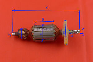 Armature-For-Hitachi-DH22PB-Rotary-Hammer-Drill-240V-NO-Bearing-NEW