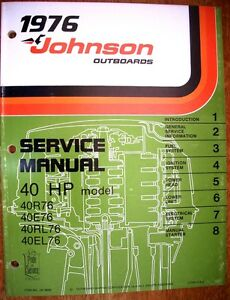 Factory Service Manual - 1976 Johnson 40hp Outboards