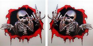 2x-Skeleton-Stickers-Middle-Finger-Attitude-Skulls-for-Bumper-Helmet-Laptop-35