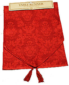 Holiday-6-ft-RED-TABLE-RUNNER-DOOR-SWAG-DRESSER-SCARF-Christmas-Party-Decoration