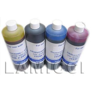 4-UV-Bulk-Pint-refill-ink-set-for-CISS-Epson-Stylus-C68-C88-Inkjet-Printer