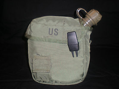 Military Issue New 2qt Canteen w/ M1 NBC Cap and Used OD Green Cover w/ Strap