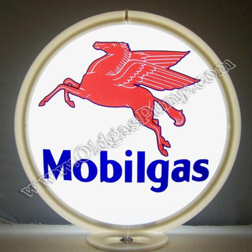 MOBILGAS GASOLINE & MOBIL OIL GAS PUMP GLOBE FREE S&H